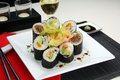 Mixed Sushi Royalty Free Stock Images