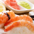 Mixed sushi on a white plate Stock Images