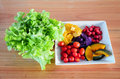 Mixed vegetable and fruit Salad. Royalty Free Stock Photo
