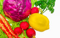 Mixed vegetable on white isolate background for design project Stock Images