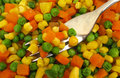 Mixed vegetables carrot pea and corn Royalty Free Stock Image