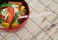 Mixed vegetables chopsticks Stock Images