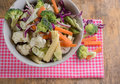 Mixed Vegetables have a carrots, broccoli, cauliflower, Purple