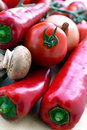 Mixed vegetables with red bell pepper Royalty Free Stock Photo