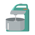 Mixer with Bowl in Flat Style. Household Appliance Royalty Free Stock Photo