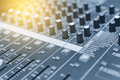 The mixer table or fader board Royalty Free Stock Photo