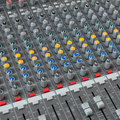 The mixer this is used to mix melodic music Stock Photo