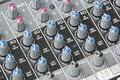 Mixing Board Knobs Royalty Free Stock Image