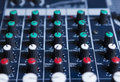 Mixing console close up background Royalty Free Stock Photos