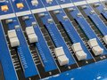 Mixing console fader to control Royalty Free Stock Photo