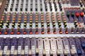 Mixing desk Royalty Free Stock Image