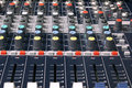Mixing desk music and sound engineering Stock Image