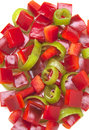A mixture of chopped peppers Royalty Free Stock Photo