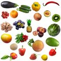 Mixture of fruit and vegetables Stock Photography
