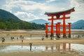 Miyajima gate at Hiroshima Royalty Free Stock Photo