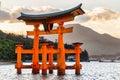 Miyajima torii gate japan the famous floating Stock Photo