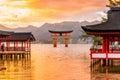 Miyajima torii gate japan the famous floating Royalty Free Stock Photos