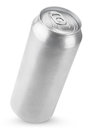 Ml aluminum beer can isolated on white with clipping path Royalty Free Stock Photography
