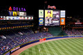 MLB Atlanta Braves - Scoreboard and outfield Stock Photography