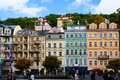Mlynske street of karlsbad karlovy vary czech republic Royalty Free Stock Images