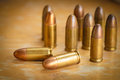9mm bullet for a gun Royalty Free Stock Photo