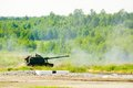 The mm howitzer s msta s russia nato name m farm is a self propelled arms expo july nizhniy tagil Stock Photos