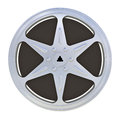 Mm motion picture film reel isolated on white background Royalty Free Stock Photography