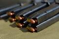 9mm pistol ammunition Royalty Free Stock Photo