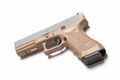 Mm pistol semi auto on white Royalty Free Stock Photography