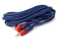 3.5mm Stereo Extension Cable male to female Royalty Free Stock Photo
