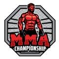 Mma championship badge design