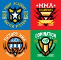 Mma fight academy emblem graphics mixed martial arts style available in eps vector for easy editing Royalty Free Stock Images