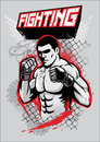 Mma fighter design vector of Royalty Free Stock Photography