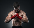 MMA fighter got ready for the fight Royalty Free Stock Photo