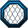 MMA Octagon Cage Sign. Royalty Free Stock Photo