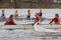 MN Women's Rowing Team vs St Thomas Stock Images