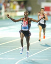 Mo Farah of Great Britain Royalty Free Stock Photos
