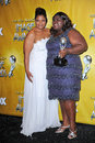 Mo nique monique gabourey sidibe and at the st naacp image awards press room shrine auditorium los angeles ca Royalty Free Stock Photography
