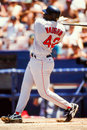 Mo vaughn boston red sox former slugger image taken from color slide Stock Image