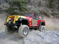 Moab jeep safari an image of a jeepster commando on the trail at the easter in utah Royalty Free Stock Image