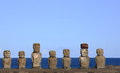 Moai ahu tongariki easter island chile Royalty Free Stock Photography