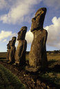 Moai- Easter Island, Chile Royalty Free Stock Photos
