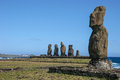 Moai at Tahai on Easter Island Royalty Free Stock Image