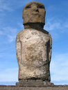 Moais of Easter Island Stock Image