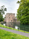 Moat of the bishops palace next to wells cathedral wells somerset england Royalty Free Stock Photography