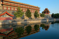 Moat & turret, Forbidden city Royalty Free Stock Image