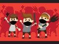 Mob cartoon design Royalty Free Stock Photo