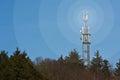 Mobiele netwerk radiomast Stock Foto
