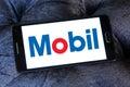 Mobil oil company logo Royalty Free Stock Photo