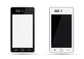 A mobil phone on white background Royalty Free Stock Image